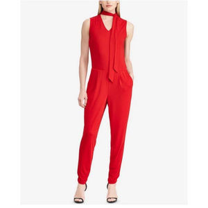 Ralph Lauren NWT Red Holiday Party Jumpsuit XL